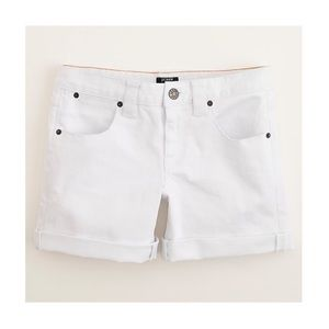 J. Crew White Denim Roll-Up Short